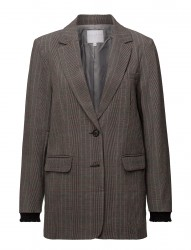 Suit Jacket In Check Fabric W. Lure