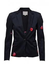 Suit Jacket W. Blot Print