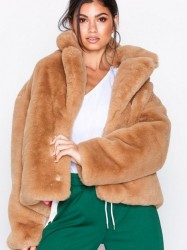 Svea Kennedy Jacket Faux Fur Lys Brun