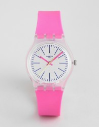 Swatch GE256 Vibe 5 Silicone Watch In Pink 34mm - Pink