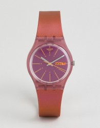 Swatch GP701 Original Sneaky Peaky Watch In Red - Red