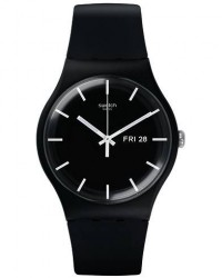 Swatch Mono Black Black men One size Sort