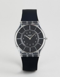 Swatch SFK361 Core 5 Silicone Watch In Black 34MM - Black