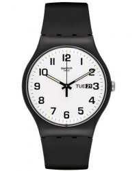 Swatch Twice Again Black men One size Sort