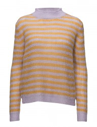 Sweater In Thin Mohair Knit W. Stri