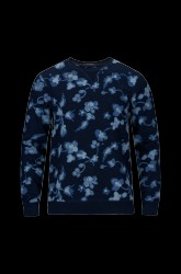 Sweatshirt Indigo Printed