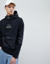 SWEET SKTBS x Helly Hansen Hooded Jacket With Front Pocket In Black - Black