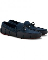 Swims Braided Lace Lux Loafer Driver Navy/Deep Red men 40
