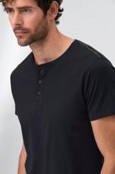 T-shirt med knapper