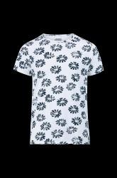 T-shirt Round Neck s/s Big Flower Single Jersey