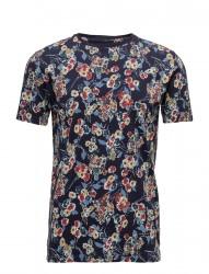 T-Shirt W/Flower Print - Gots