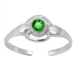 Tåring med Grøn Zirkonia