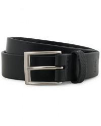 Tärnsjö Garveri Leather Belt 3cm Black men 85 Sort