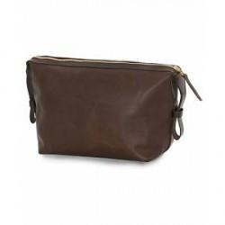 Tärnsjö Garveri Leather Washbag Dark Brown
