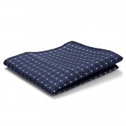 Tailor Toki Blåt Lommetørklæde med Gobelinmønster