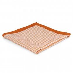 Tailor Toki Orange og Hvid Lommeklud