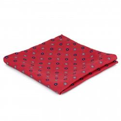 Tailor Toki Rød Lommeklud med Blomstret Mønster