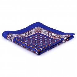 Tailor Toki Royal Fantasifuld Blå Lommeklud i Silke