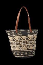 Taske Totebag i flettet bast