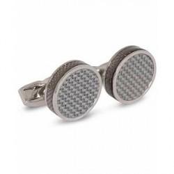 Tateossian Carbon Tablet Cufflinks Grey