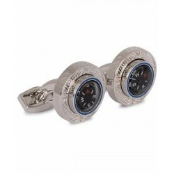 Tateossian Compass Plattform Cufflinks Rhodium Plated