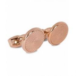 Tateossian Guilloché Round Cufflinks Rose Gold Plated