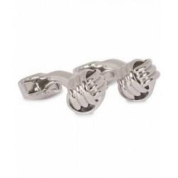 Tateossian Knots Cufflinks Rhodium Plated