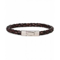 Tateossian Scoubidou Leather Bracelet Brown