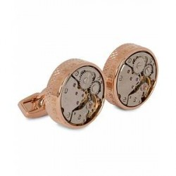 Tateossian Skeleton Vintage Cufflinks Rose Gold Colour Plated