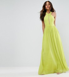 TD By True Decadence Tall Plunge Front Maxi Dress - Green