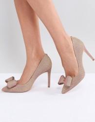 Ted Baker Azeline Rose Gold Sparkling Heeled Court Shoes - Gold