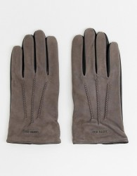 Ted Baker Balo gloves in suede - Grey