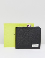 Ted Baker Bifold Wallet with Coin Pocket in Leather - Black