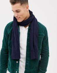 Ted Baker Foscarf scarf in cable knit - Navy