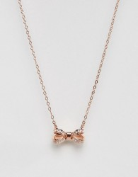 Ted Baker Olessi Mini Opulent Pave Bow Pendant - Gold