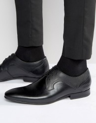 Ted Baker Pelton Leather Derby Shoes - Black