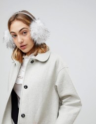 Ted Baker Premium Faux Fur Ear Muff - Grey