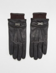 Ted Baker Quiff Gloves in Leather - Black
