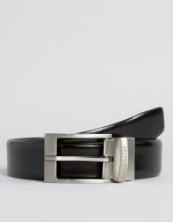 Ted Baker Reversible Smart Leather Belt - Black