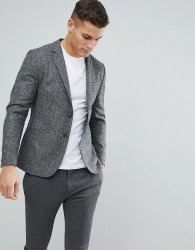 Ted Baker Slim Blazer in Wool Mix - Grey