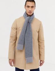 Ted Baker St Just scarf with stripe - Blue