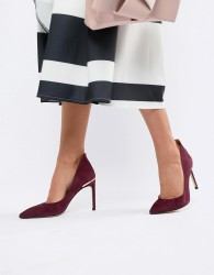 Ted Baker Suede Heeled Court Shoes - Red