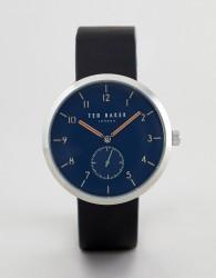 Ted Baker TE50011007 Josh Leather Watch In Black 42mm - Black