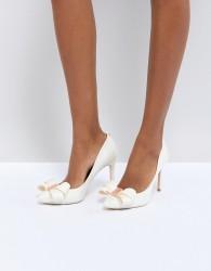 Ted Baker Tie The Knot Skalett Heeled Shoes - White