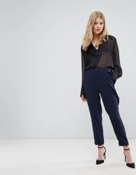 Ted Baker Trouser With Scallop Hem - Navy