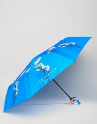 Ted Baker Umbrella in Harmony Floral Print - Blue