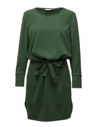 Tencel Dress W. Ruffle On Back