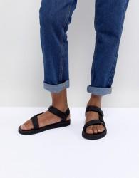 Teva Black Original Universal Flat Sandals - Black