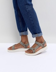 Teva Green Midform Universal Geometric Flat Sandals - Green