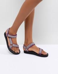 Teva Purple Print Original Universal Flat Sandals - Purple